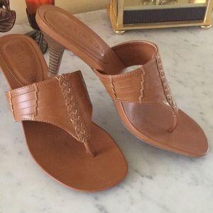 Tan sandals size 7.5